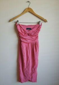 Zimmermann Strapless Cocktail Bustier Tie Front Dress Size 0 - Pink