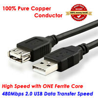 3FT-33FT Premium Ultra-Speed USB 2.0 Male to Female Long Extension Cable Cord
