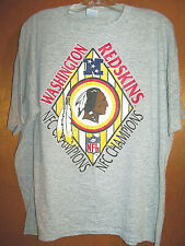 Vtg 1980's Washington Redskins Nfc Champions Football T-Shirt 50/50 Cotton/Poly