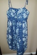 GAP Floral Print Spaghetti Strap Short Dress in Blue - Size 2