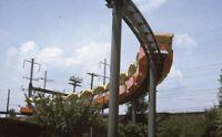 Amusement Park Aerial Tram Monorail Railroad Original 1969 Photo Slide