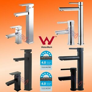 Tall/ Standard Bathroom Round Basin Mixer Tap Vanity Faucet SQUARE Counter Top