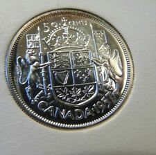 1957 PROOF LIKE PL CANADA Canadian .800 silver fifty 50 cents half dollar