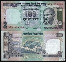 INDIA 100 RUPEES P91A 1982 GANDHI HIMALAYAN MT.UNC BILL WORLD CURRENCY BANK NOTE