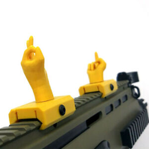 Modification Accessories Novelty Gesture Sights for 21mm Wide Rail Mount Base