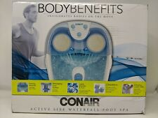 Conair Waterfall Foot Spa/Pedicure Spa with Lights, Bubbles, Massage Rollers