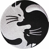 Yin and Yang Cat Patch Embroidered Badge Embroidery Iron/ Sew-On Cloth