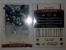 2006 Ud Legends football #3 Barry Sanders, Detroit Lions