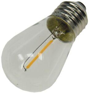 Ersatz-Lampe Filament E27 12V / 0,8W für Biergarten-Lichterkette Leuchtmittel