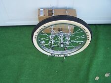 "BICYCLE 20""  TWISTED SPARE TIRE  KIT WITH WHEEL/TIRE BIKE  BMX LOWRIDER OTHERS"