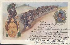 08.07.1903 Palermo Regg.to Bersaglieri Battaglioni 28 30 32 - 2 Bild Karte >FOTO