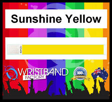 100x Tyvek Sunshine Yellow Party Function Wristbands