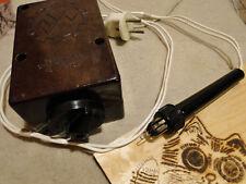 New listing Vintage Soviet Russian Ussr Pyrography Wood Burning Kit Tool Craft Bakelite Body
