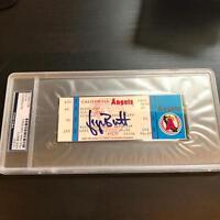 George Brett 3000th Hit Signed Ticket September 10, 1992 PSA DNA COA Auto