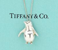 TIFFANY&Co Penguin Pendant Necklace Sterling Silver 925 w/BOX