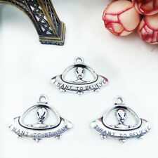 Alien, charms Silver Alloy Pendants,Jewelry Finding made Diy Accessories,8pcs