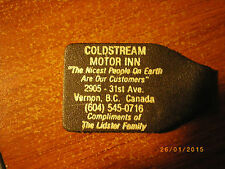 leather key fob from coldstream hotel vernon bc canada piece of vernon history