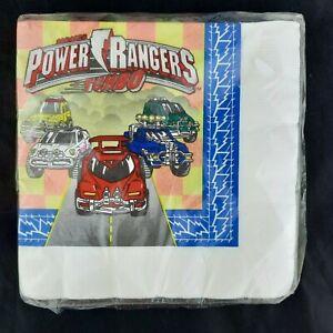 Rare 1997 Vintage Saban's Mighty Morphin Power Rangers Turbo 16 Pk 3-ply Napkins