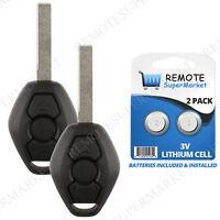 2 Replacement for BMW M3 M5 M6 X3 X5 Z3 Z4 Z8 Remote Car Keyless Entry Key Fob