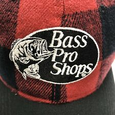 BASS PRO SHOPS Gone Fishing Camping Mens Hat Snapback Red Plaid Will Ship In Box