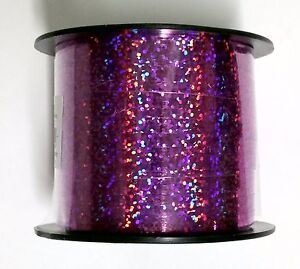"""3/16"""" Curling Ribbon Holographic Metallic Colors 100 Feet - Pick Your Color"""