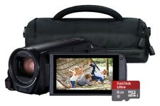 Canon Legria HF-R806 Full HD 1080p 3 Inch Screen Camcorder Bundle - Black.