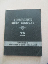 1954 Bedford TA series truck shop manual rear axle &  propeller shafts
