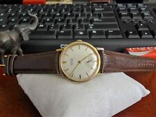 Vtg 1940s Gruen Precision 10K R.G.P. 17-Jewels 510 Watch w/ 18mm Leather Band!