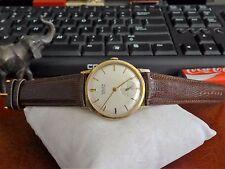 Vtg 1940s Gruen Precision 10K R.G.P. 17-Jewels 510 Watch w/ 18mm Leather Band!