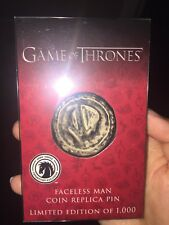 2017 SDCC Dark Horse Game of Thrones: Faceless Man Coin Replica Pin. Limited Ed.