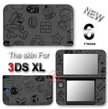 Super Mario Black Edition Luigi  Skin Sticker Decal Cover for Original 3DS XL