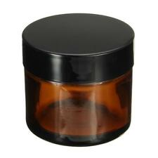 Amber Glass Jar Pot Cosmetic Container Empty Refillable Bottle Makeup Tool 50ML