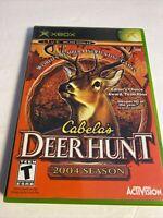 Cabela's Deer Hunt: 2004 Season (ORIGINAL Microsoft Xbox) GAME COMPLETE w/MANUAL