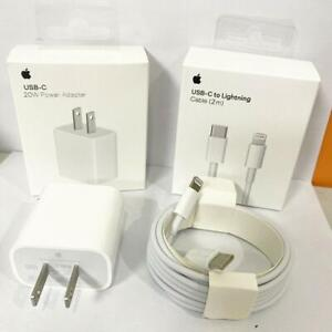 For iPhone 12 11 Pro Max 20W Power Adapter Fast Charger PD Cable USB-C Type-C