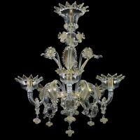 Kronleuchter Glas Murano Rich Details IN Blatt Oro. Mit Zertifikat