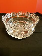 """Waterford Crystal King 10"""" Deep Cut Bowl by John Connolly Master Line"""