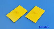 LEGO® Eisenbahn 4x6 gelbe Drehgestellplatte 2x (7838,7839,7898,60051,60052)