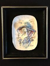 E Tezza 3D Portrait Framed Art Piece Girl Woman in Hat