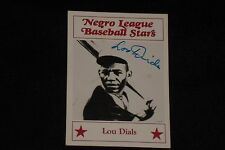 LOU DIALS 1986 FRITSCH NEGRO LEAGUE STARS SIGNED AUTOGRAPHED CARD #14