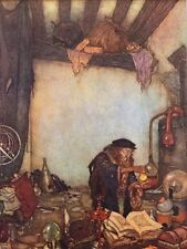 "EDMUND DULAC vintage mounted print, 12 x 10"", fairytale The Wind's Tale  ED40"