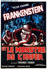 movie film repro Hammer horror  fankenstein monster hell Poster  A3 This A print
