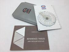 Sama Etani 600CE Esso Chemicals circular slide rule Rechenschieber case manual