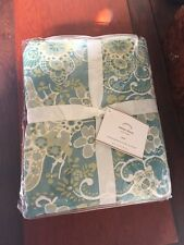 POTTERY BARN ~ EMMA EURO SHAM  ~SOLD OUT EVERYWHERE ~ 26 X 26 BLUES AND GREENS