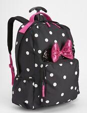 GAP KIDS GIRLS PINK BLACK MINNIE MOUSE ROLLER BACKPACK NYLON BAG SCHOOL NEW