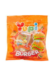 2 Bag Yupi Burger Jelly Gummy Mixed Fruit  Flavour Candy Candies Sweet 32 g.