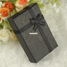 16x Square Black Paper Gift Box Present Case For Ring Jewelry Bracelet Necklace