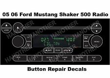 FORD RADIO BUTTON DECALS F-150 MUSTANG FOCUS EXPLORER EXPEDITION SHAKER REPAIR