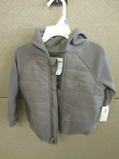 Old Navy Boys Gray Jacket 2T Zip Up Hoodie Hooded coat sweatshirt New with tags