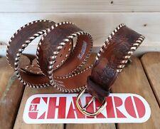 EL CHARRO Cintura in Pelle (4.5 cm x 128 cm) Fibbia intercambiabile (PANINARO)