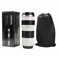 400ML 70-200mm Camera Lens Shaped Cups 2.8 Drink Camera Thermos Coffee Mugs Gift